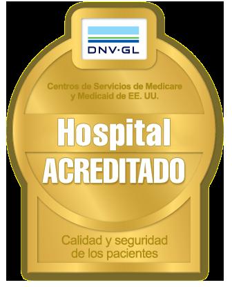 Hospitales acreditados porDNV